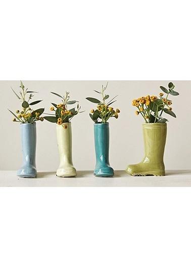 Warm Design Eskitilmiş Seramik Dekoratif Vazo Renkli